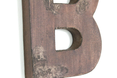 "Rustic and distressed ""wooden"" letter B."