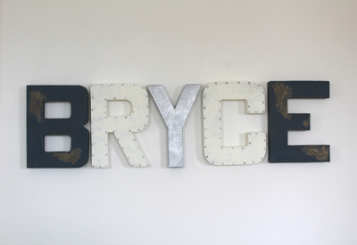 Bryce wall name sign in a rustic nautical design.