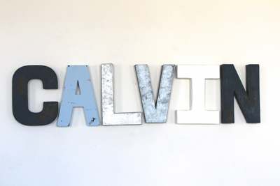Calvin personalized name room letters.