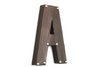 "Brown metallic ""metal"" freestanding letter A."