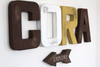 Rustic Wooden Woodland Theme CORA Name Letters.