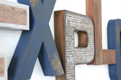 Explore sign in navy and browns for playroom decor.
