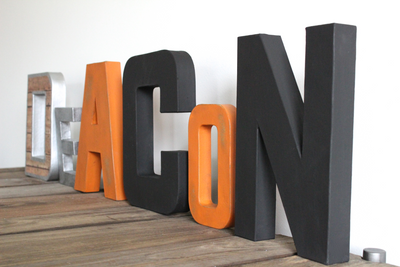 DEACON freestanding industrial letters