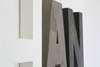 White, gray, and black nursery wall letters for nursery room decor and boys room decor.