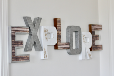 Explore sign for kids playroom decor.