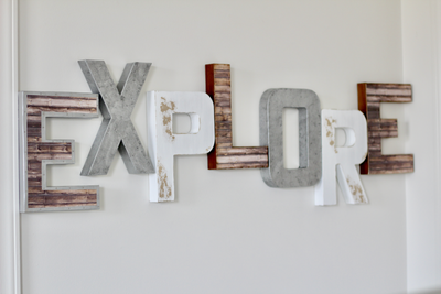 Explore sign for adventure themed nurseries.
