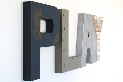 Playroom letters for kids playroom decor.
