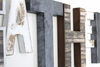 "Rustic white letter A and ""metal"" letter T and a reclaimed ""wooden"" letter H wall letters."