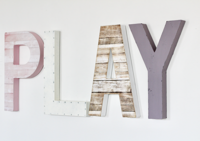Play sign for girls playroom decor.