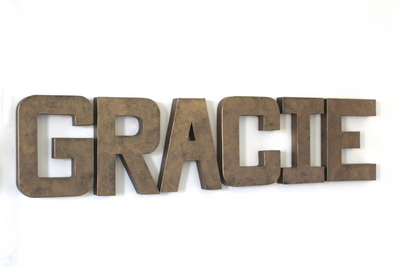 Gracie name sign letters for teenagers room decor.