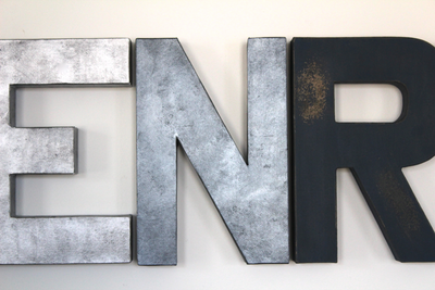 """Metal"" Industrial Wall Letters"