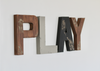 Boys woodland playroom letters for adventure themed nurseries.