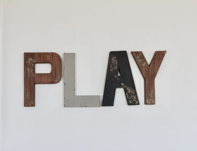 Play letters for woodland playrooms.