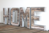 "Freestanding ""wooden"" and ""metal"" home sign"
