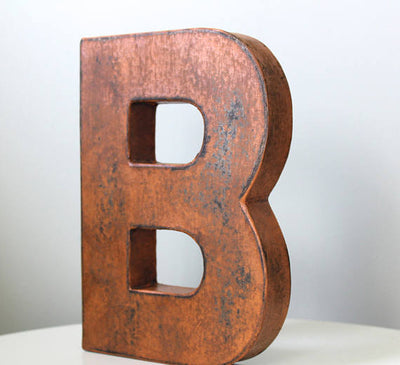 Orange freestanding letter B