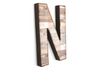 "Large Farmhouse ""Wooden"" Letter N."