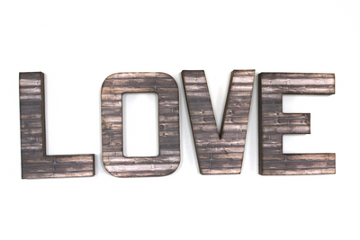 Love wall letter sign.