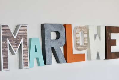 Marlowe baby name letters.