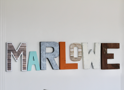 Marlowe gender neutral nursery decor.