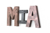 Industrial Chic Girl Room Letters Spelling Out Mia.