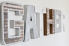 Industrial gather wall sign for kitchen wall decor in different colors and styles.
