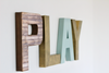 Play sign for kids playroom decor.