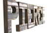 Rustic farmhouse wall letters spelling out Pierce.