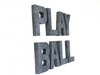 Play ball wall sign for a sports theme nursery or boys room.