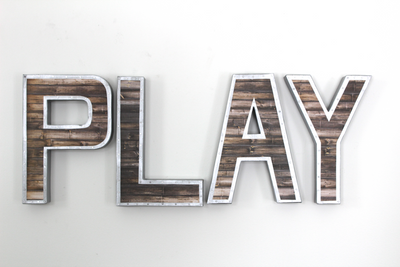"12"" tall Play wall letters"