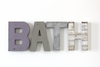 BATH wall sign in different colors and finishes for girls bathroom wall decor.