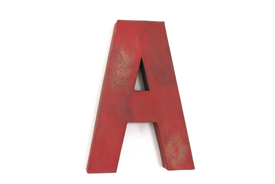 "Rustic Letter for Boys Room ""Wooden"" Letter A"