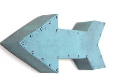 Blue wall arrows for playroom wall decor or for aviation themed nurseries.