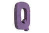 "Purple retro ""metal"" letter Q."