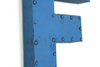 Retro letter F with nail head trim.