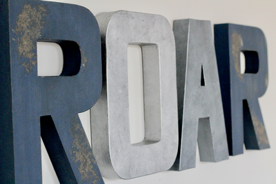 Roar sign for rustic playroom decor and animal themed nurseries.
