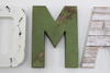 "White and Green nursery room decor ""wooden"" letters"