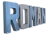 Roman custom wall letters for little boys room decor in grey and blue colors.