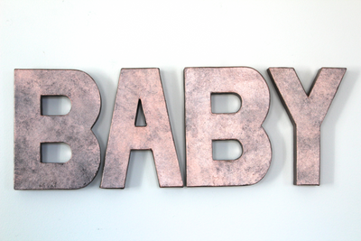 Baby Shower Decor in Rose Gold