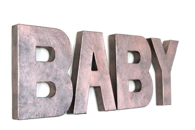 Rose Gold BABY Letters