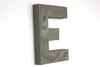 Blue Green Shabby Chic Distressed Letter E.