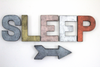 Sleep sign with arrow.