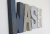 Bathroom WASH wall letters for modern farmhouse bathroom wall decor.
