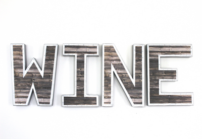 Wine Bar Wall Decor Letters.