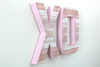 Pink XO sign.