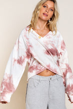 Overylay Wrap Tie Dye French Terry Top