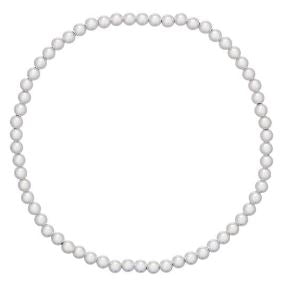 Classic Bracelet- Sterling Medium Bead- Silver
