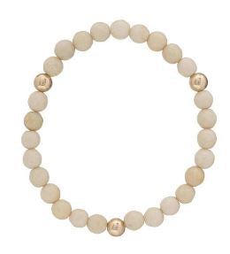 Promise Bracelet with Gold Beads-Riverstone