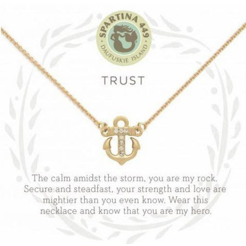 Trust/Anchor Gold Necklace