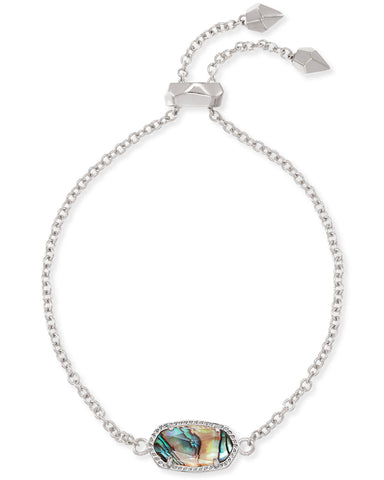 Elaina Adjustable Chain Bracelet in Abalone Shell