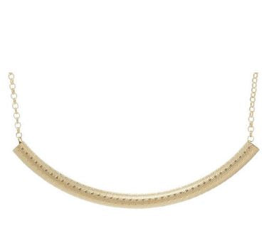 Bliss Bar Textured Necklace- Gold